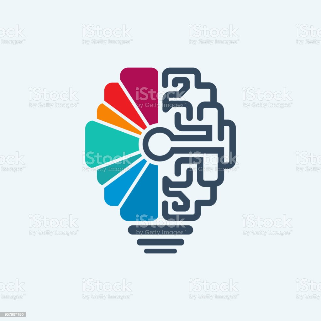 brain and lamp symbol