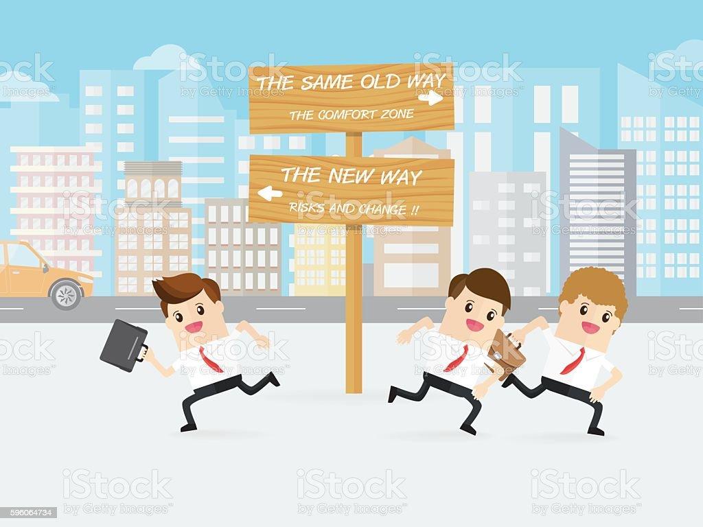 hight resolution of brave man choose new way others choose same old way ilustraci n de brave man choose