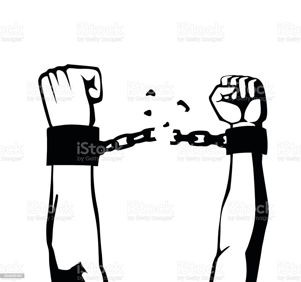 Breaking The Chain Isolated Stock Vector Art & More Images