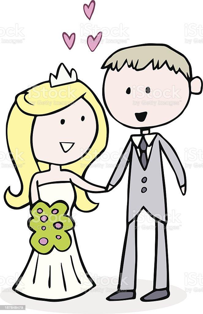 Braut Und Brutigam Hochzeit Comic Stock Vektor Art und