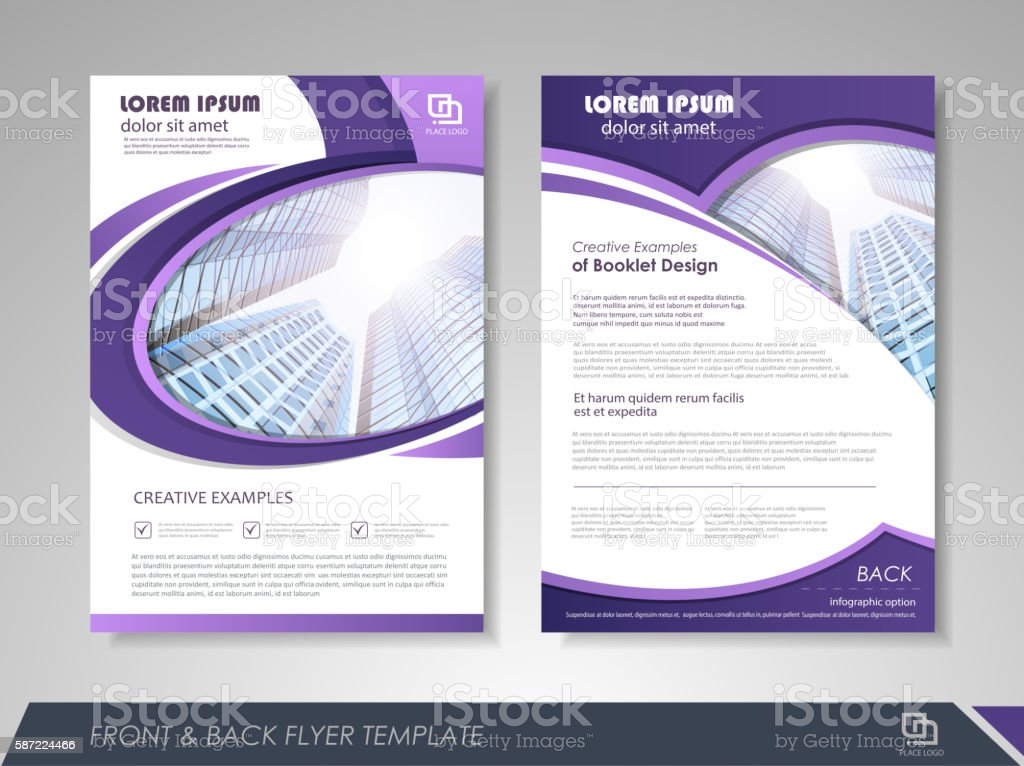 Brochure Design Stock Vector Art & More Images Of Abstract 587224466