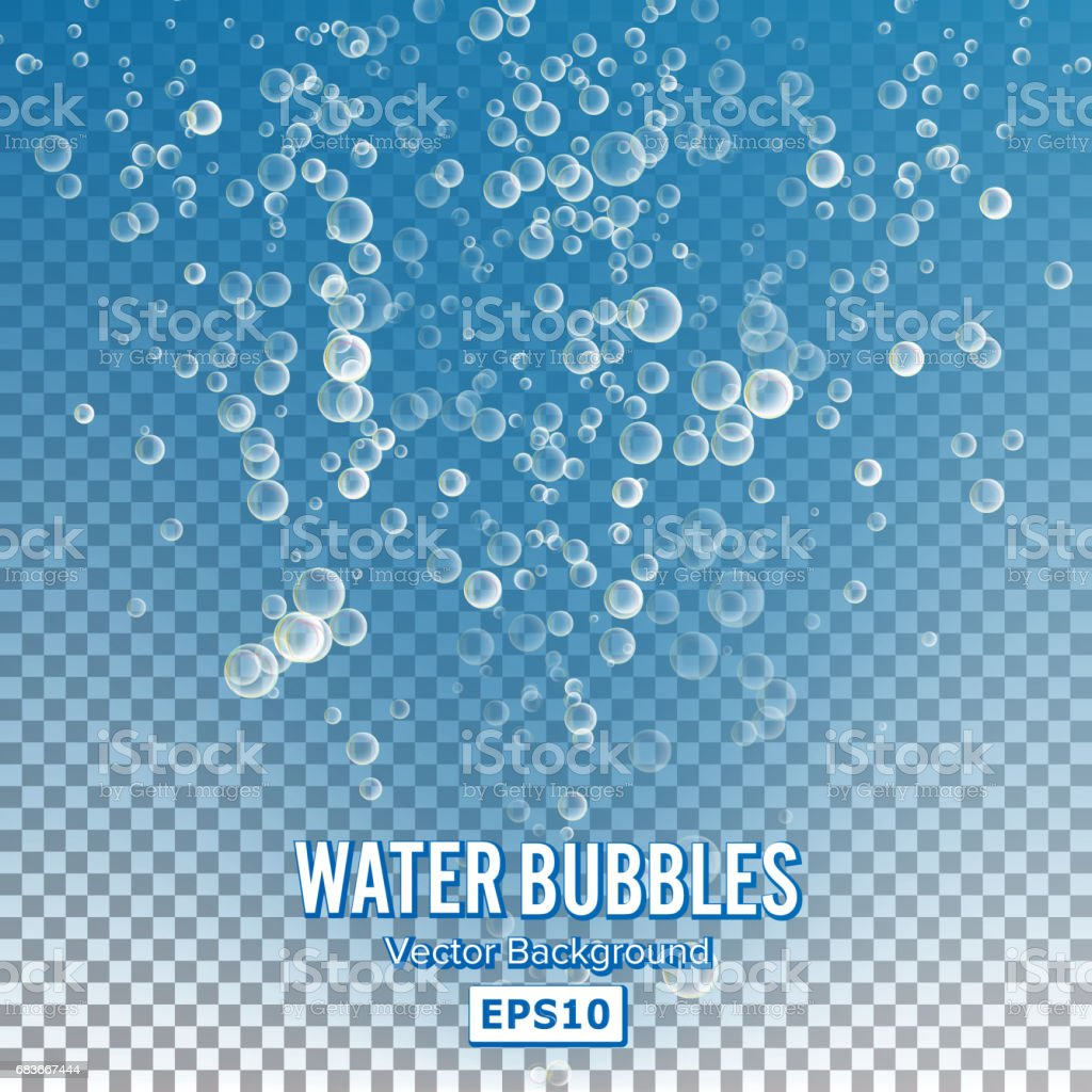 bubbles in water on
