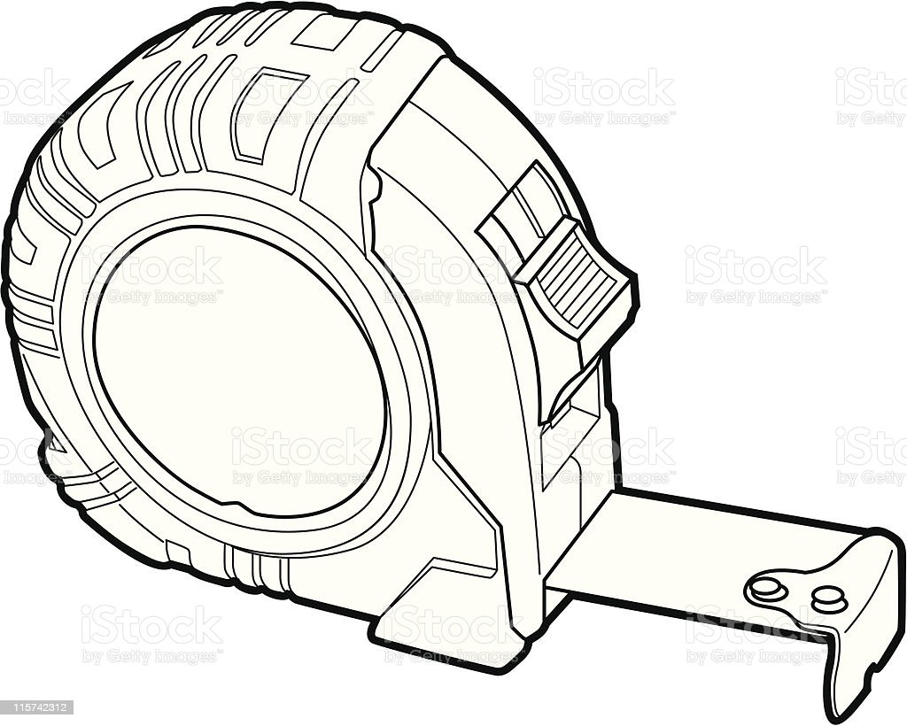 Builders Tape Measure Stock Vector Art & More Images of