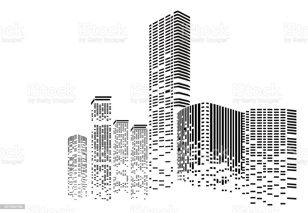 Building And City Illustration At Night Stock Vector Art