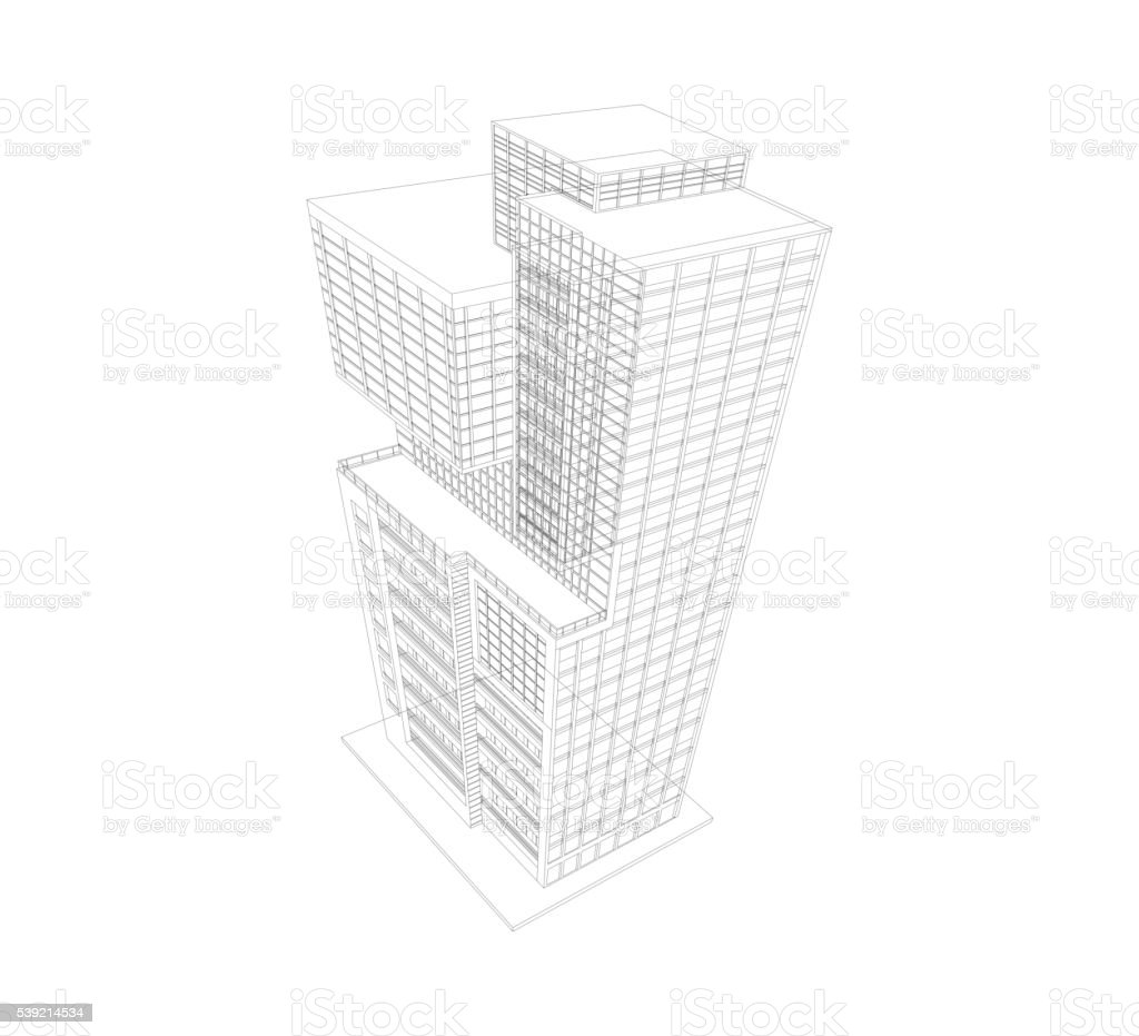 Building Modern Wireframe Stock Vector Art & More Images