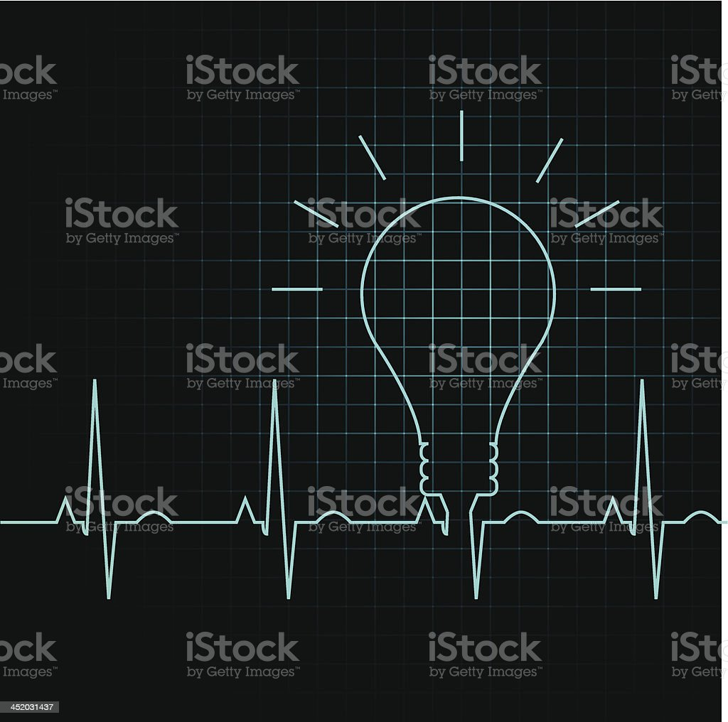 bulb pulse idea heart