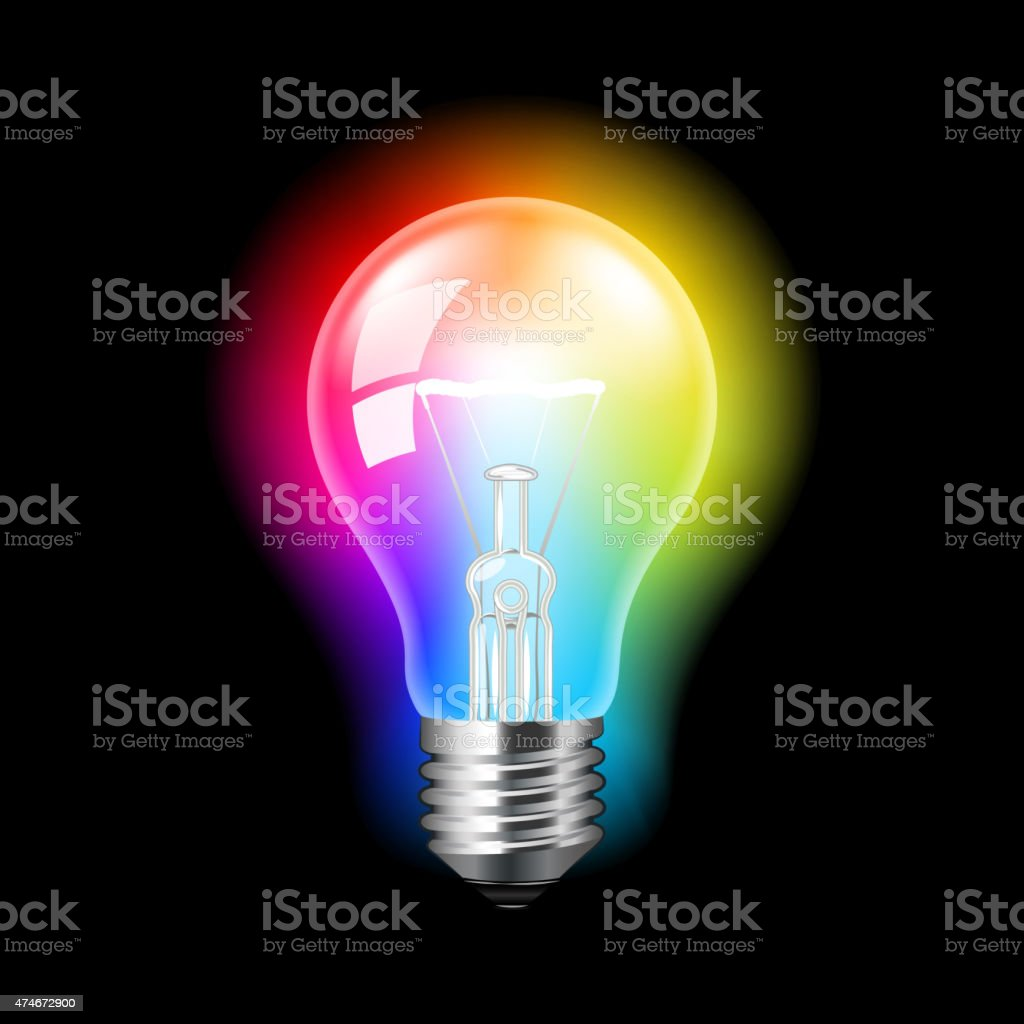 Rainbow Light Bulb