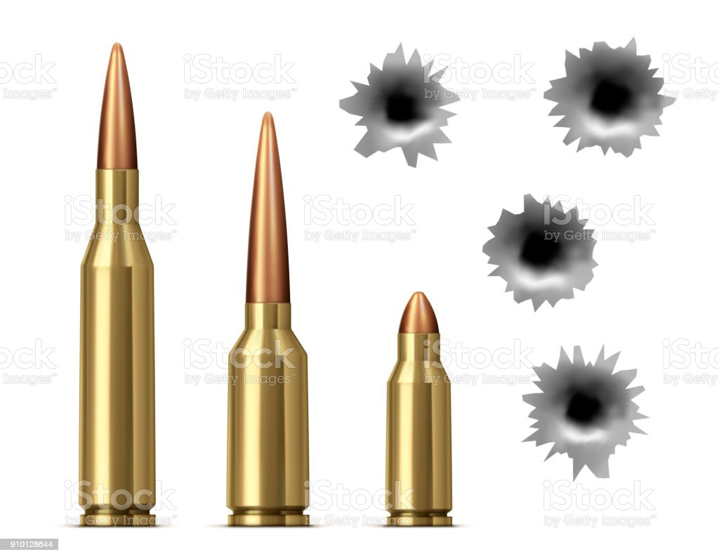 bullets and bullet holes