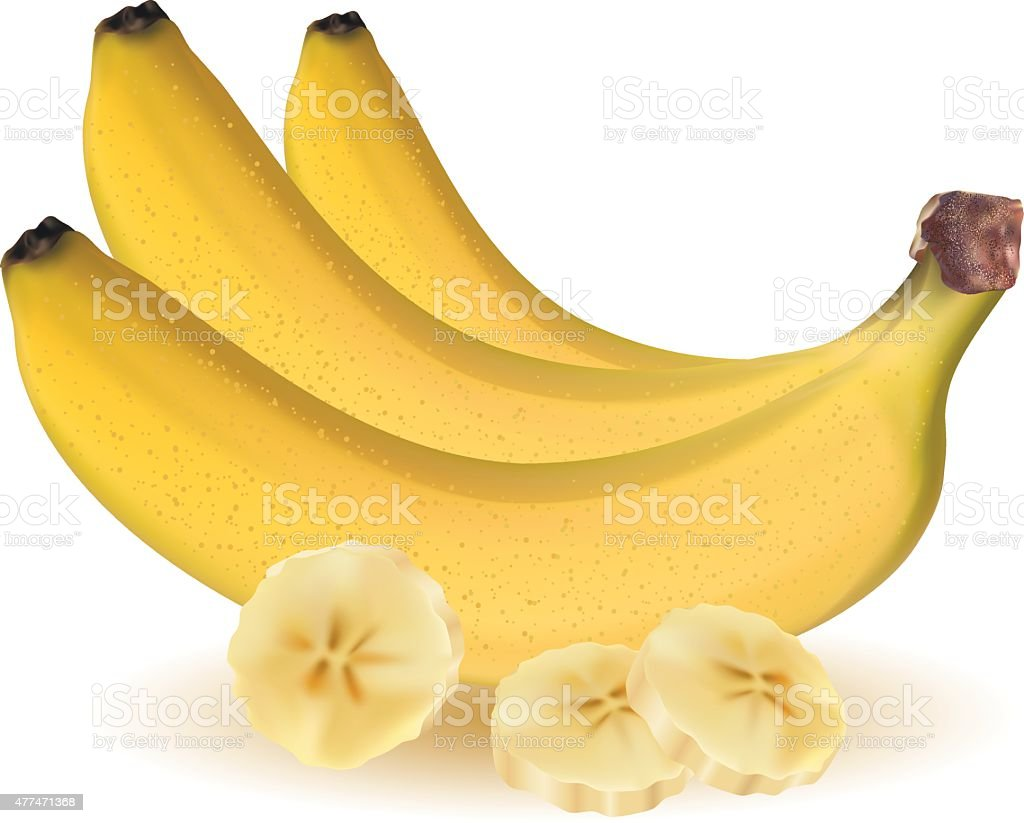 sliced banana clip art vector