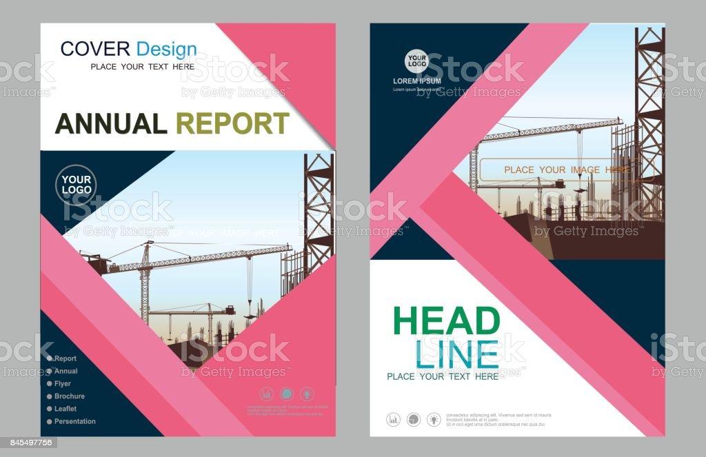 業務建設年度報告手冊傳單設計範本向量單張封面演示文稿抽象幾何背景範本在 A4 大小的現代出版物海報雜誌 ...