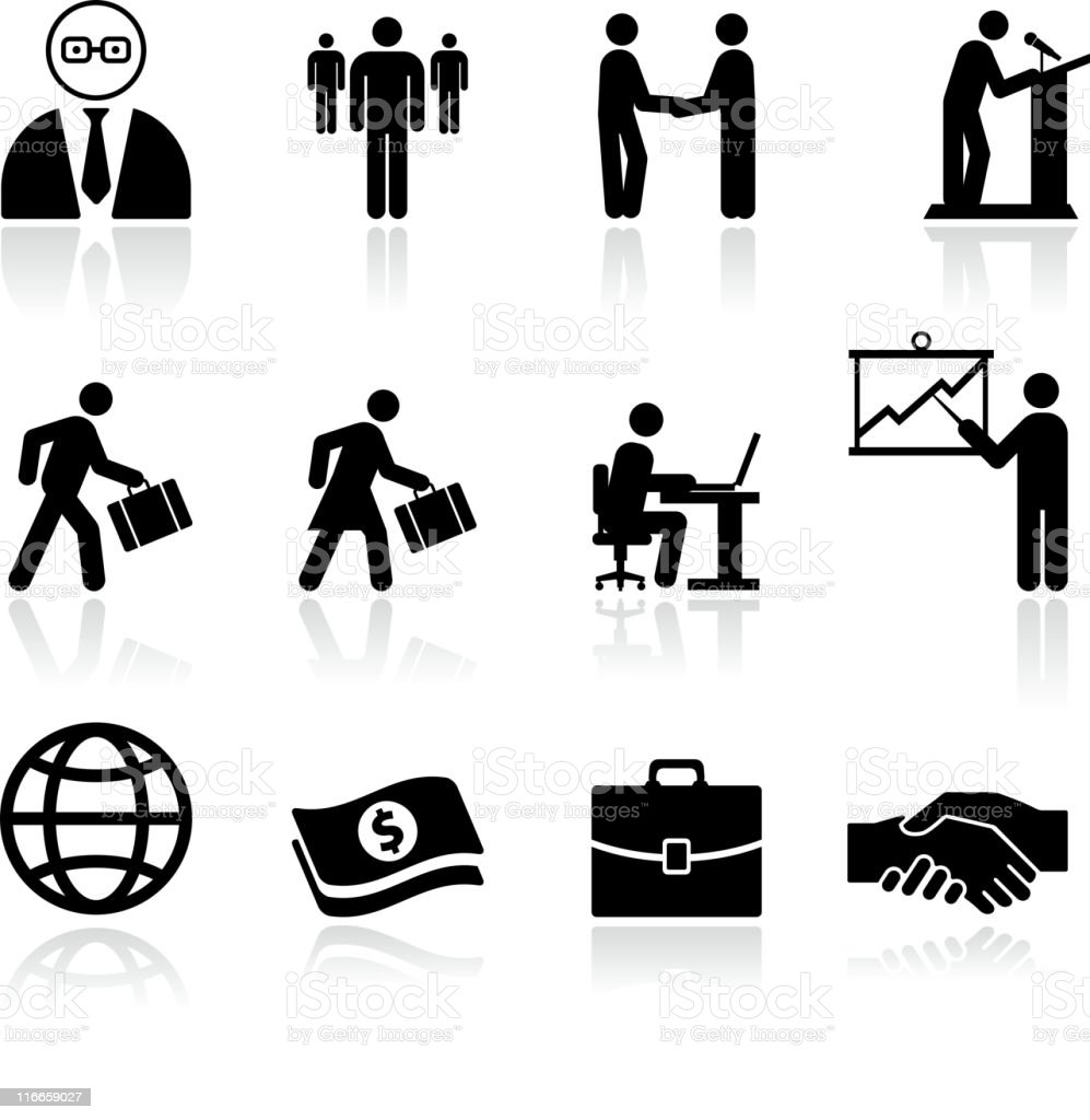 Business Finance Black And White Royalty Free Vector Art