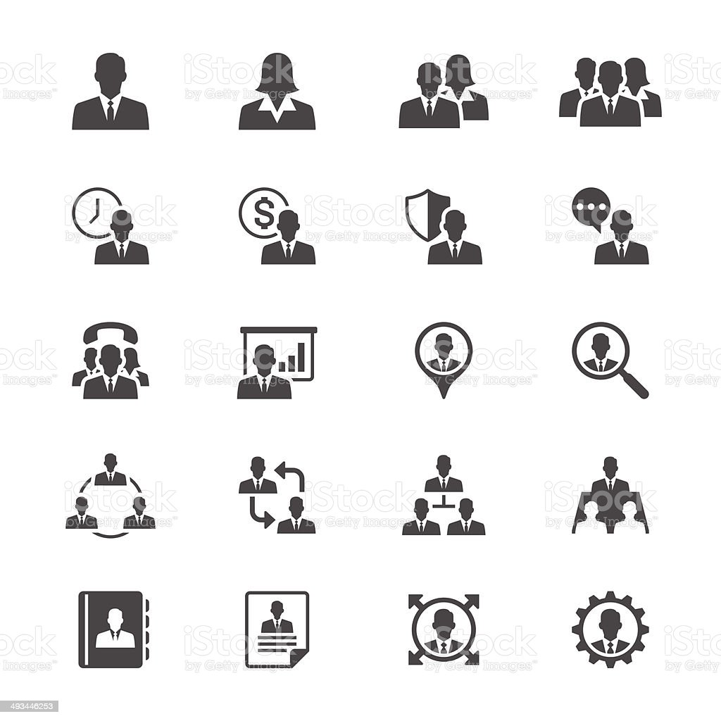 Business Flat Icons Stock Vector Art & More Images of