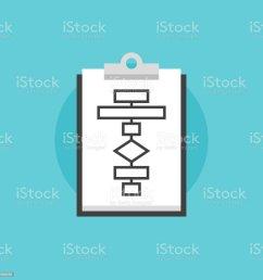 business flowchart process flat icon illustration royalty free business flowchart process flat icon illustration stock [ 1024 x 1024 Pixel ]