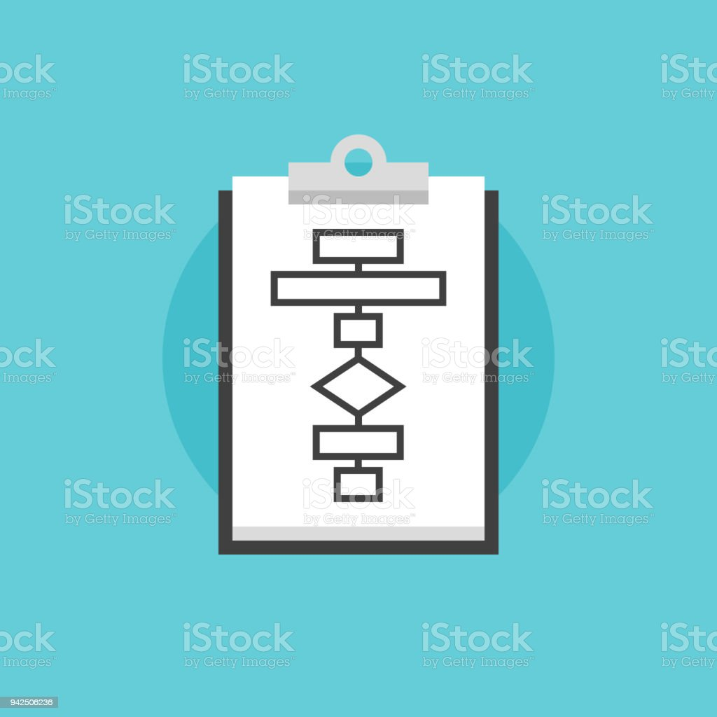 hight resolution of business flowchart process flat icon illustration royalty free business flowchart process flat icon illustration stock