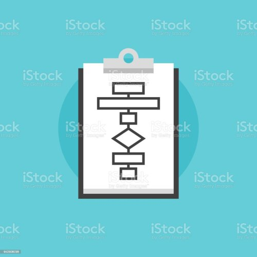 small resolution of business flowchart process flat icon illustration royalty free business flowchart process flat icon illustration stock