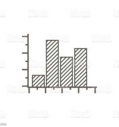 simple vector icon of a rising block diagram line art [ 1024 x 1024 Pixel ]