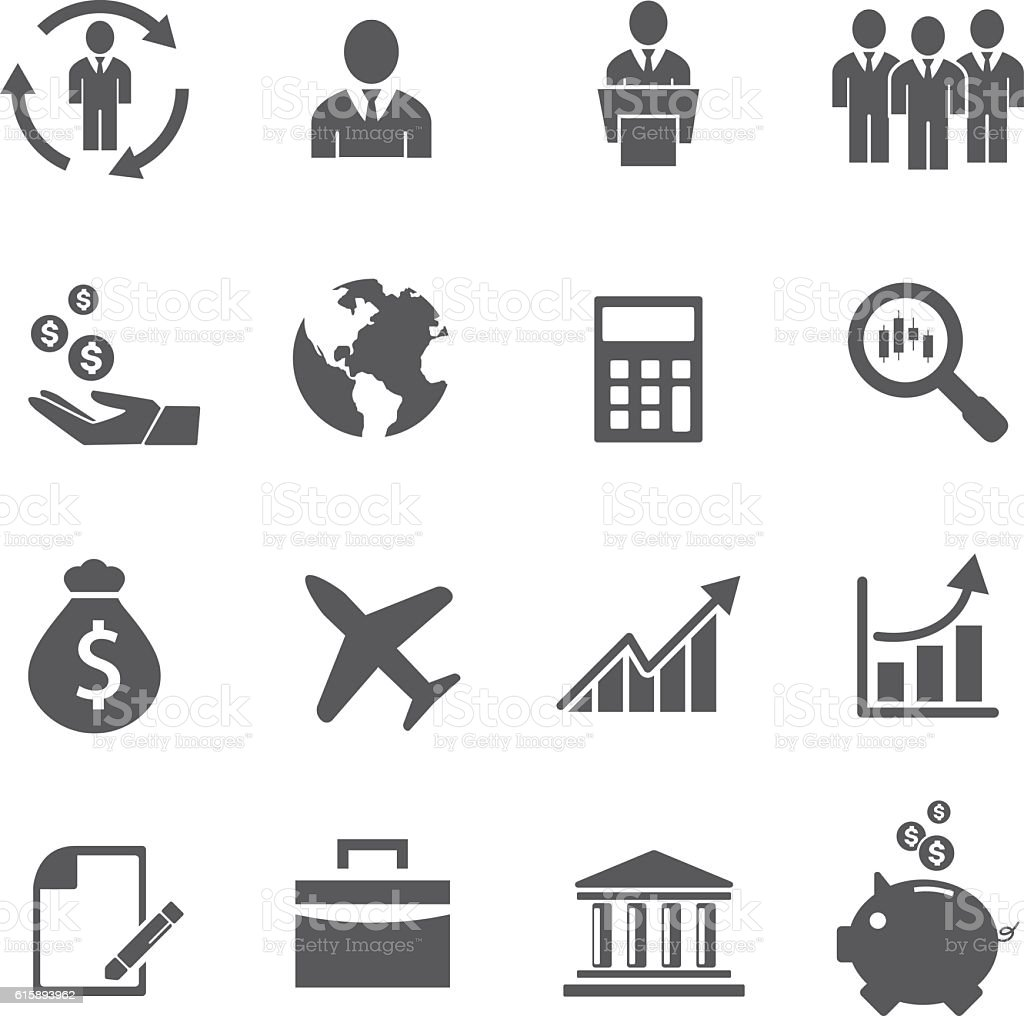 business icons management human