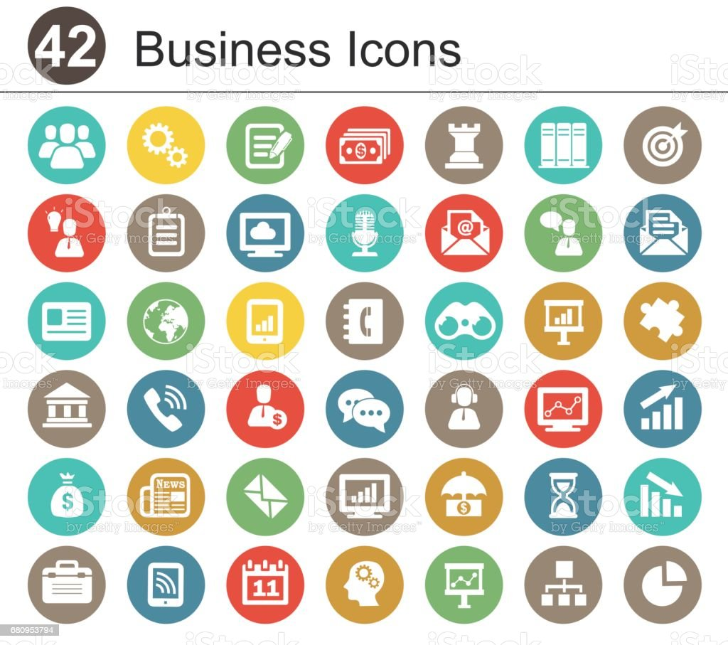 best business icons illustrations