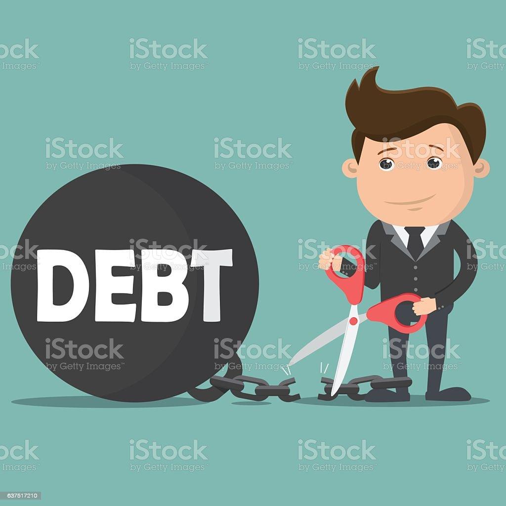 debt free illustrations royalty-free