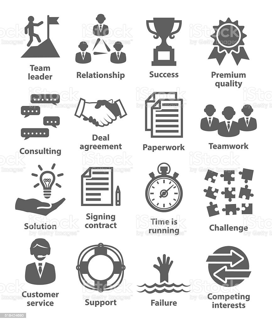Business Management Icons Pack 10 Stock Vector Art & More
