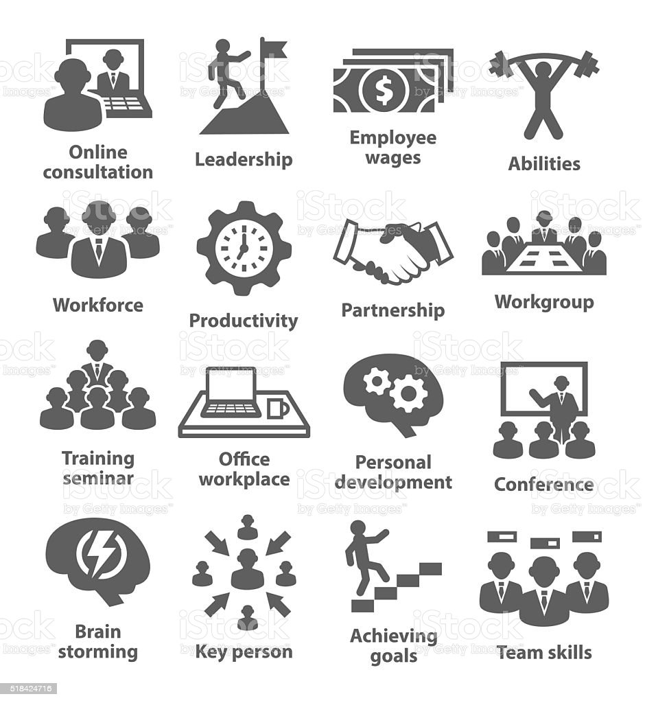 Business Management Icons Pack 11 Stock Illustration