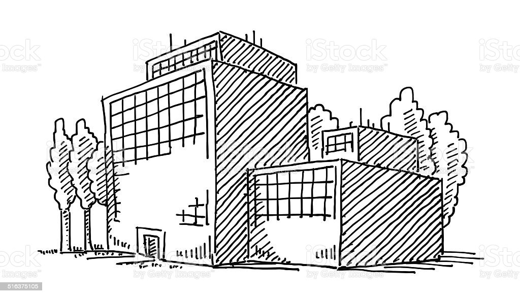 Business Office Building Drawing Stock Vector Art & More