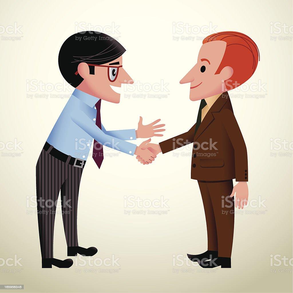 Two Men Shaking Hands Cartoon Illustrations. Royalty-Free Vector Graphics & Clip Art - iStock
