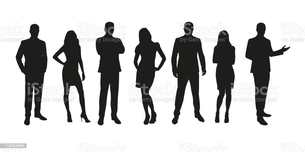Business People Group Of Men And Women Isolated