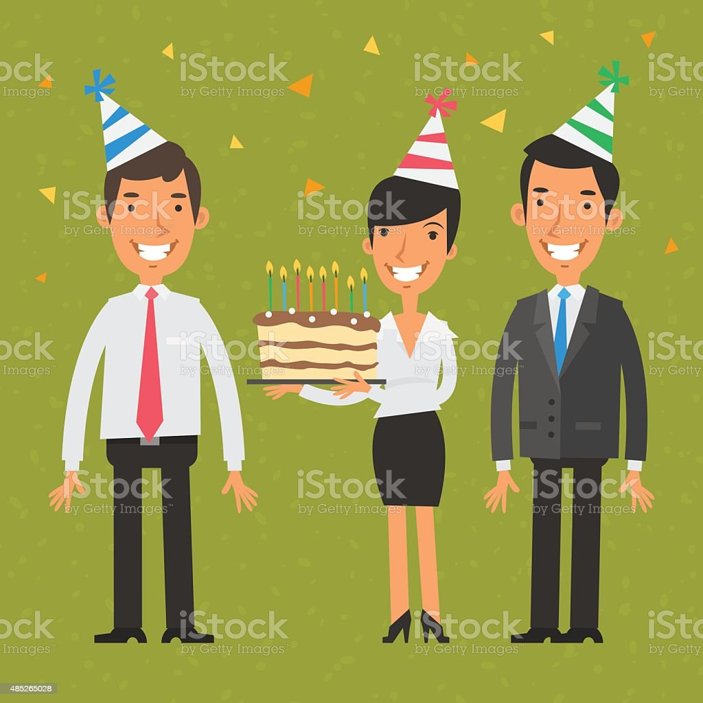office birthday illustrations
