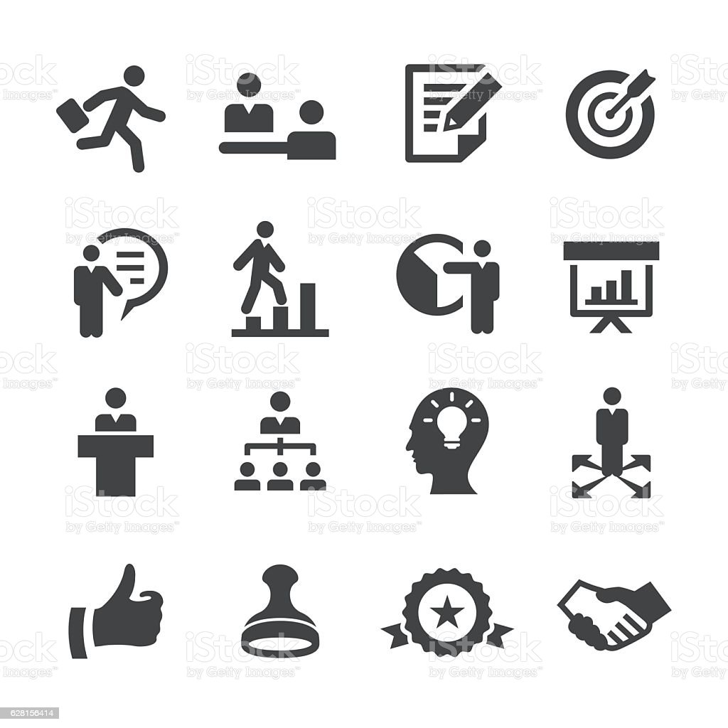 Business Training Icons Acme Series Stock Vector Art