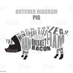 Pig Cuts Diagram International 4300 Wiring Diagrams Butcher Of Pork Stock Vector Art More Images Illustration
