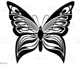 Butterfly Black White Silhouette Design Stock Illustration Download Image Now iStock