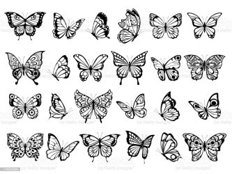 Butterfly Outline Tattoo Clipart Free Download