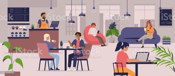 8 808 Restaurant Interior Illustrations Royalty Free Vector Graphics & Clip Art iStock