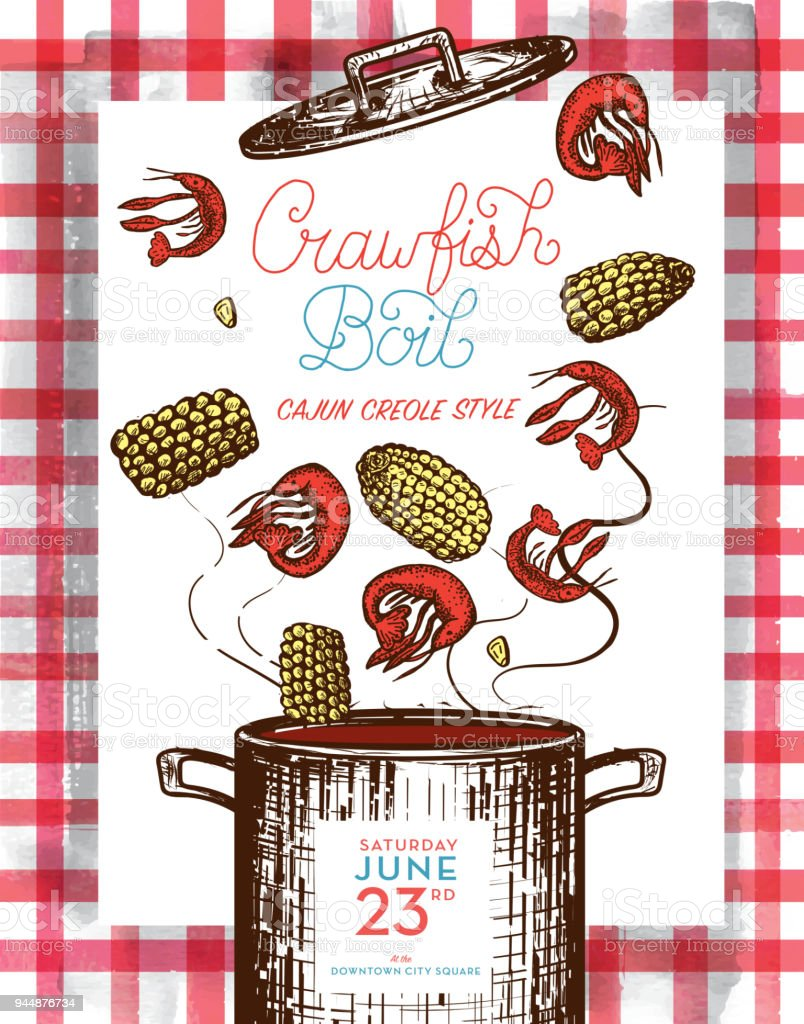 hight resolution of cajun creole crawfish boil invitation design template royalty free cajun creole crawfish boil invitation design