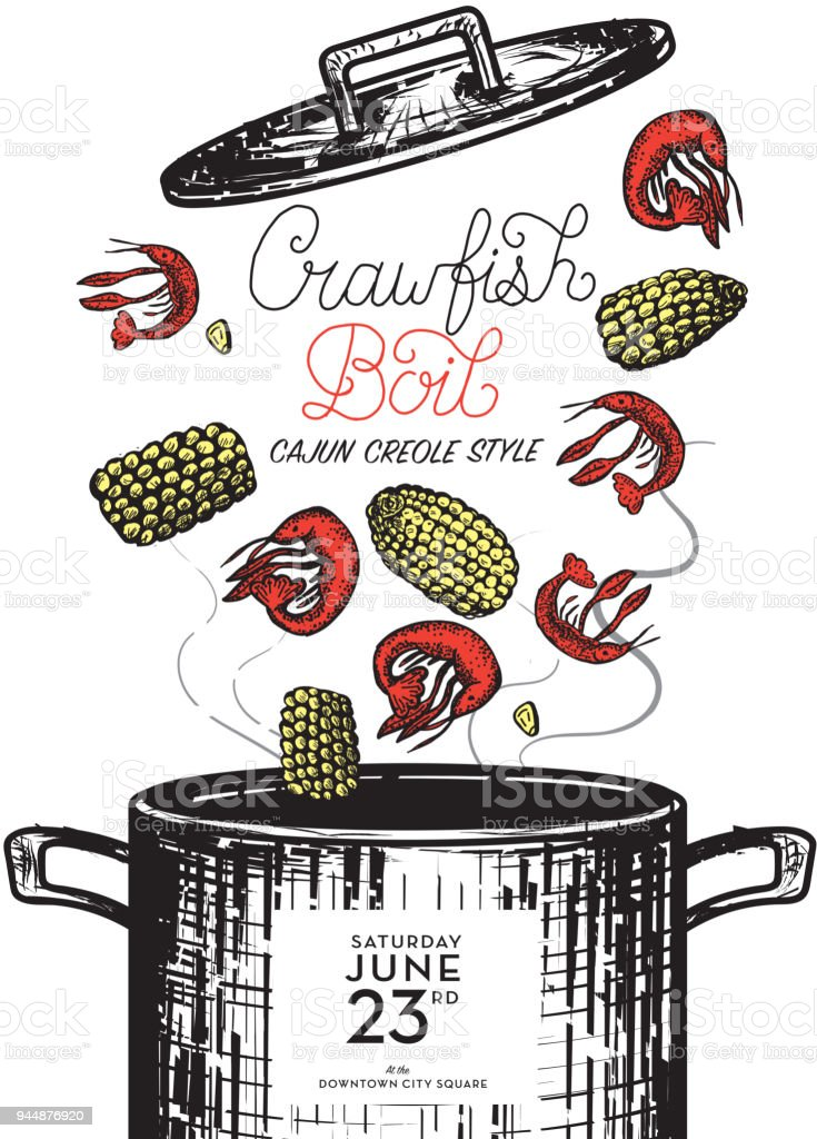 medium resolution of cajun creole crawfish boil invitation design template royalty free cajun creole crawfish boil invitation design
