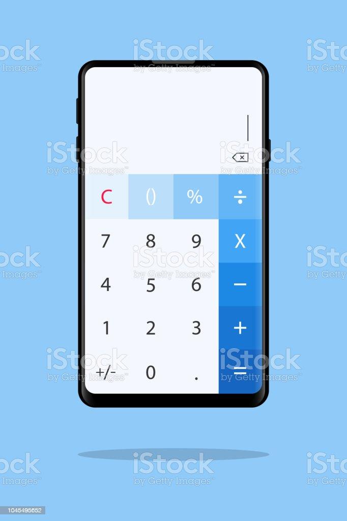 calculator app on mobile