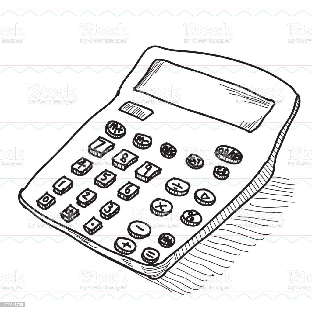 Calculator Calculationsketch Stock Vector Art & More