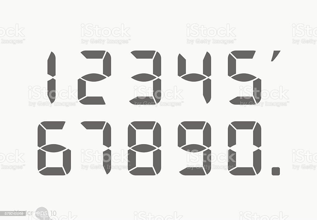 Calculator Digital Numbers Stock Vector Art & More Images