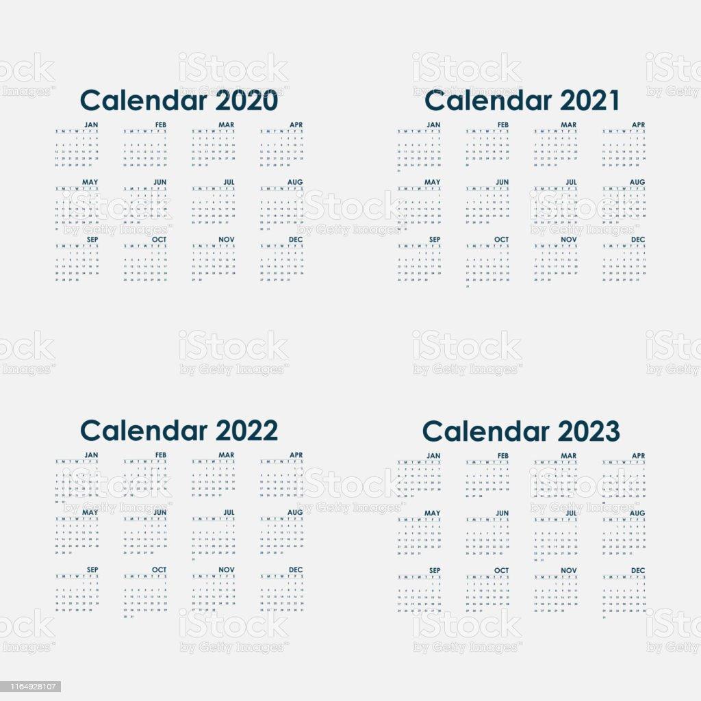Calendar 2020 20212022 And 2023 Calendar Templatecalendar