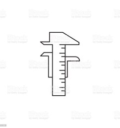 calipers icon element of measuring items for mobile concept and web apps icon for website design and development app development  [ 1024 x 1024 Pixel ]