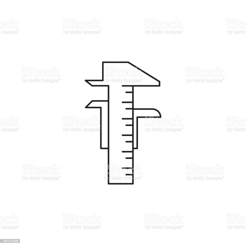 hight resolution of calipers icon element of measuring items for mobile concept and web apps icon for website design and development app development