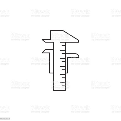 small resolution of calipers icon element of measuring items for mobile concept and web apps icon for website design and development app development