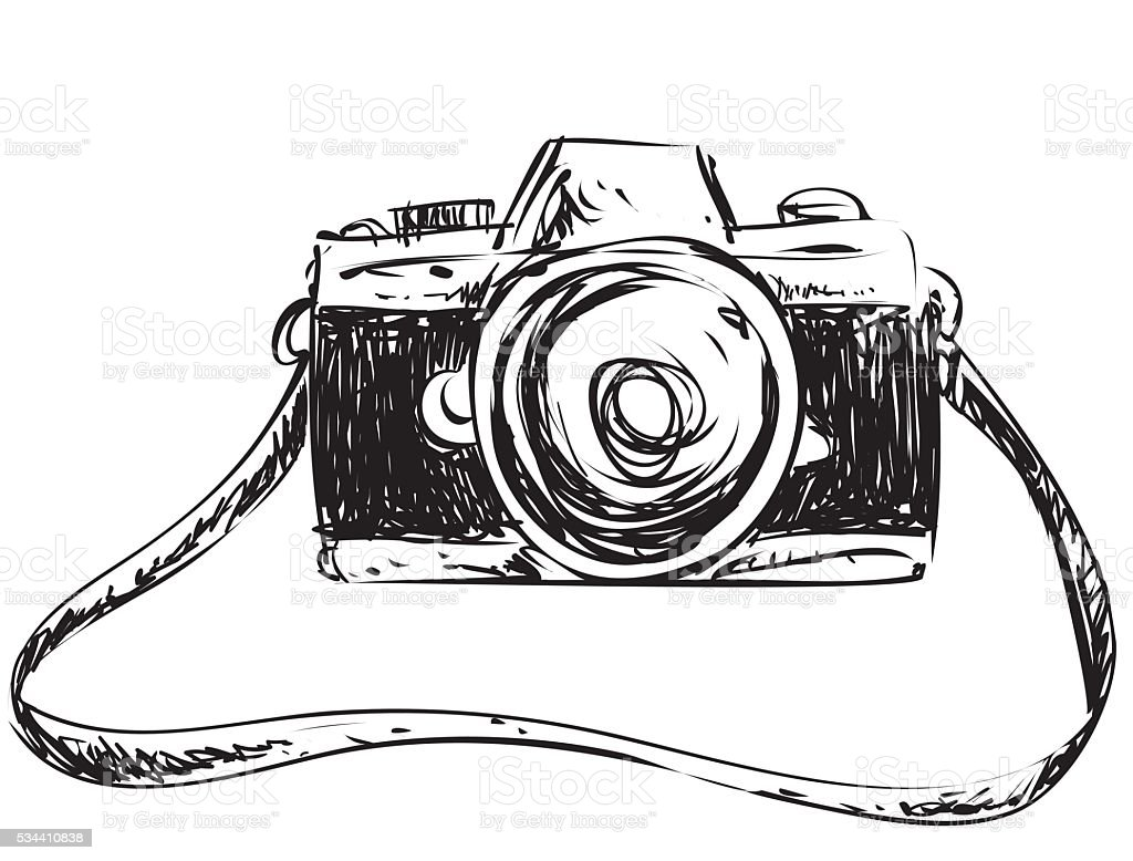 Camera Doodle Illustration Stock Vector Art  More Images