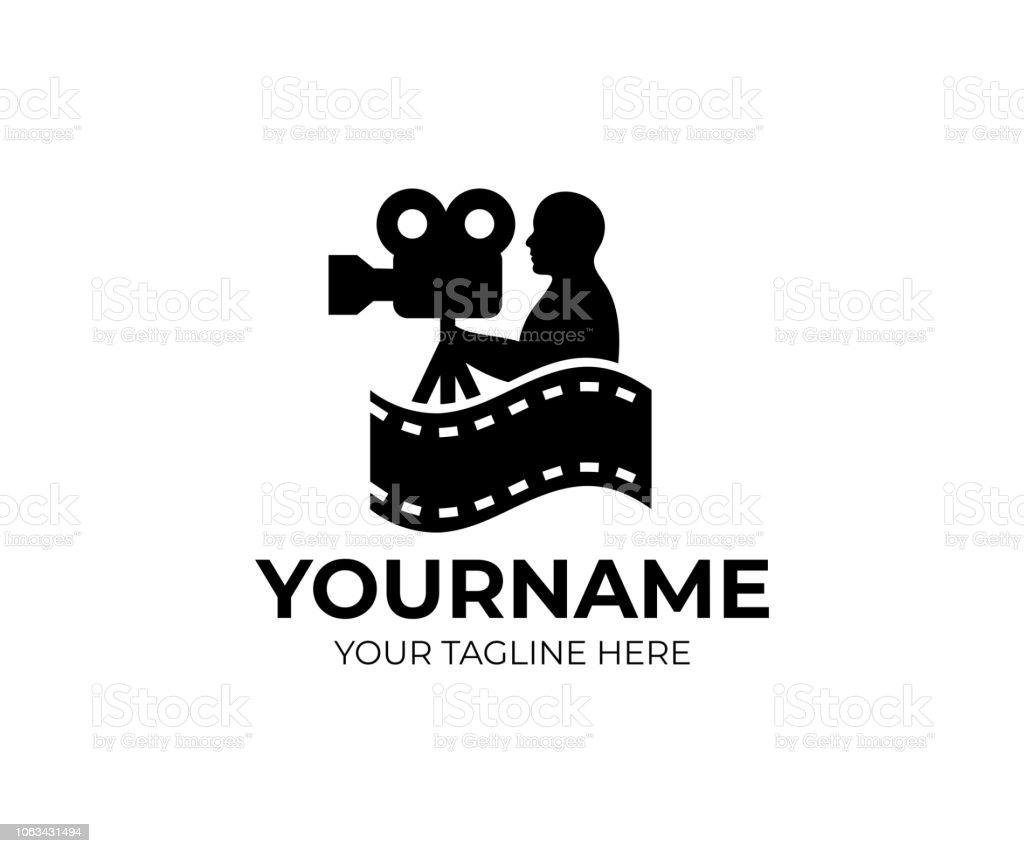Caméraman Vidéaste Et Videocamer Soit Cinemacamera