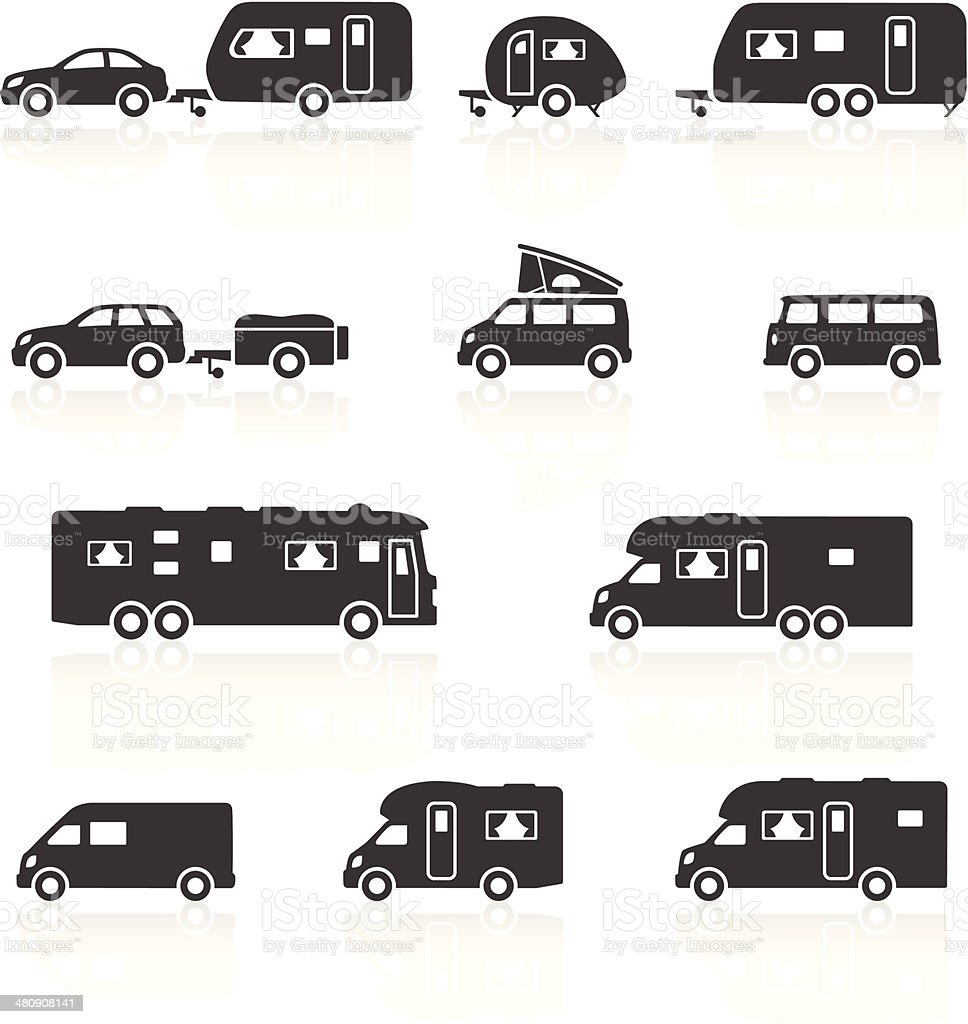 Camper Caravan Rv Motorhome Icons Stock Vector Art & More