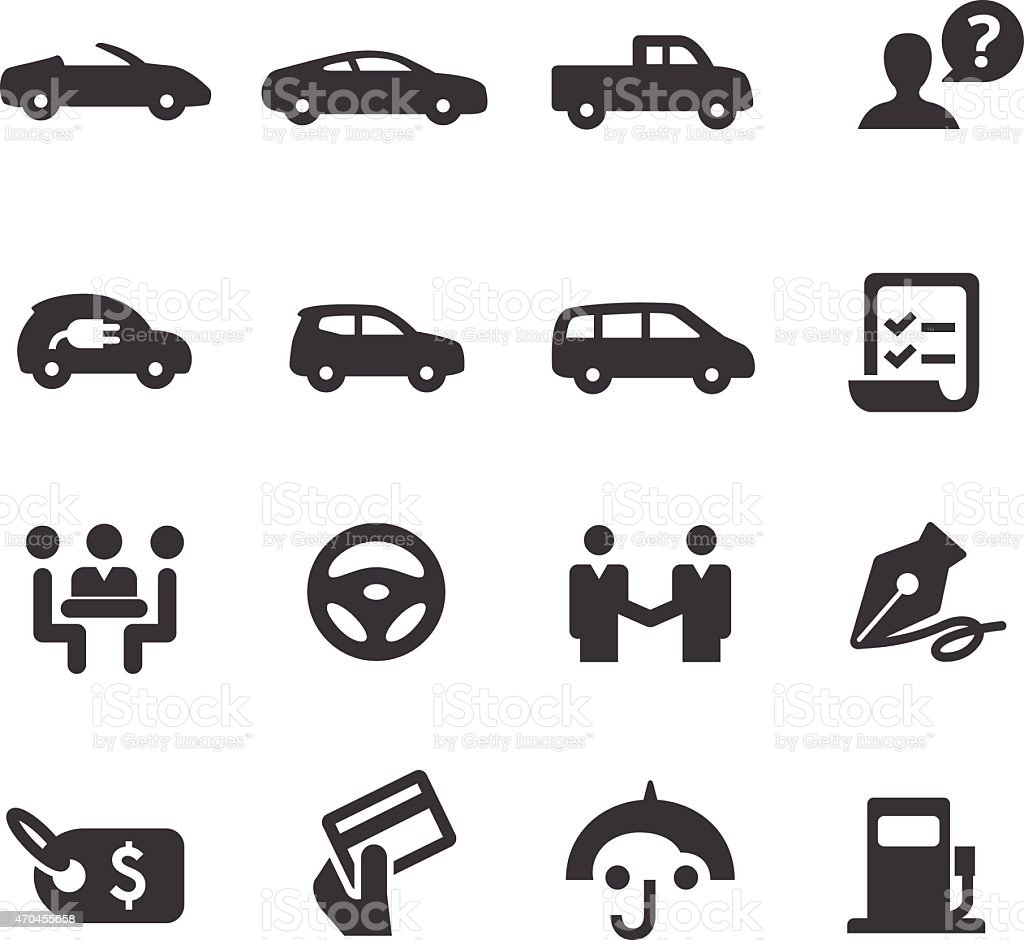 Car Dealership Icons Set Acme Series Stock Vector Art