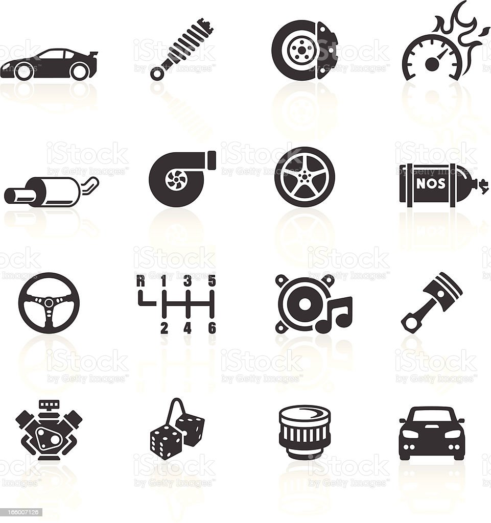Car Parts Performance Icons Stock Vector Art & More Images