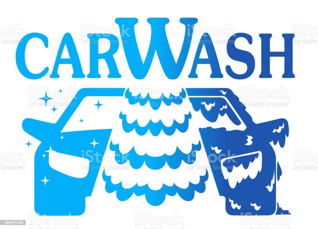 Car Wash Vector Logo On White Background Stock Vector Art