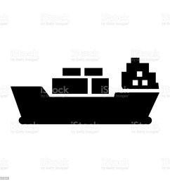 cargo ship icon vector illustration flat design style royalty free cargo ship [ 1024 x 1024 Pixel ]